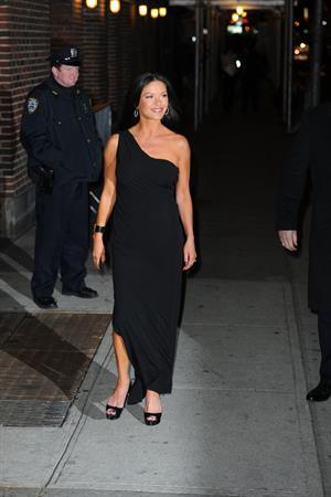 Catherine Zeta-Jones - arrives at The Late Show 1/10/13
