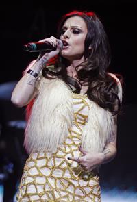 Cher Lloyd performing at the Wells Fargo Center in Philadelphia 12/5/12