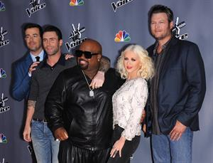 Christina Aguilera At the premiere of the Leve Shows at The Voice Season 5 on November 7, 2013