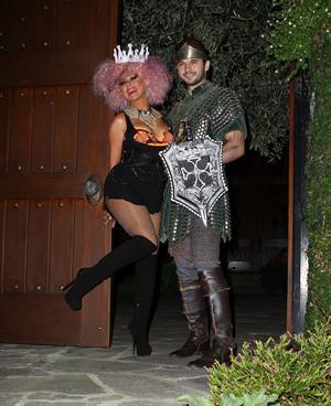 Christina Aguilera  Halloween Party  10/27/12