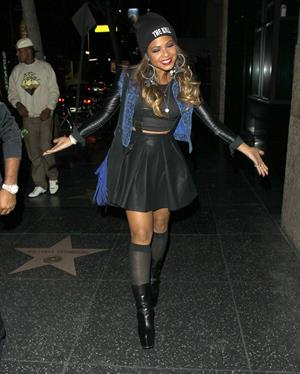 Christina Milian Heads to Katsuya Restaurant for dinner with boyfriend Jas Prince in Hollywood (November 14, 2012)