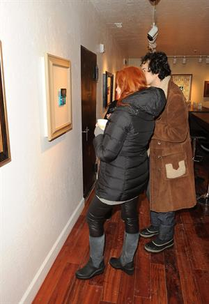 Christina Hendricks Nintendo 3Ds Experience Lounge in Park City on January 23, 2012