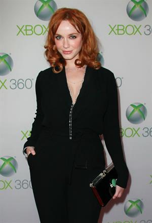 Christina Hendricks premiere of Xbox 360's Project Natal on June 13, 2010