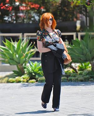 Christina Hendricks out running errands in Culver City on June 21, 2011