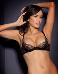 Sarah Stephens in lingerie