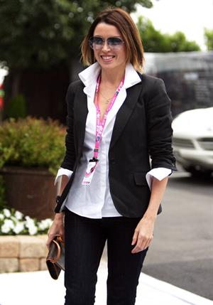 Dannii Minogue at the 2011 Grand Prix in Australia on March 27, 2011