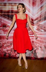 Dannii Minogue X Factor Final photocall London on December 9, 2010