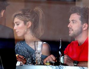 Delta Goodrem Spotted with boyfriend Darren McMullen and friends at Sydney's Park Hyatt Hotel, Sydney, Australia