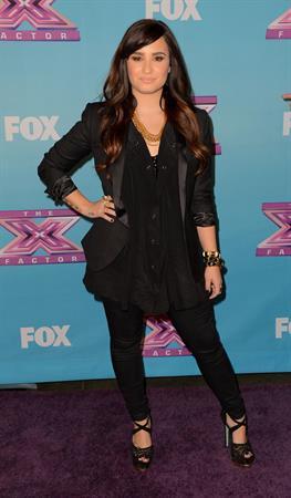 Demi Lovato FOX's The Factor Season Finale Night 1 in LA 12/19/12