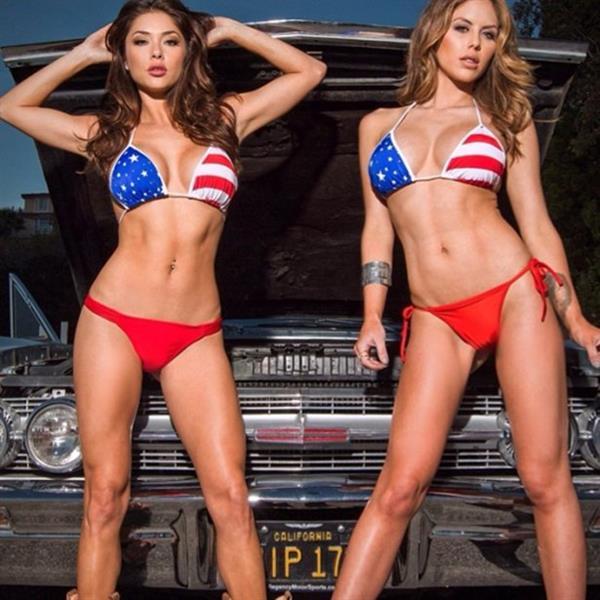 Dual American Flag Bikinis