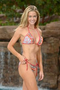 Denise Richards posing poolside in Los Angeles - November 14, 2012