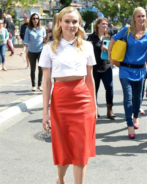 Diane Kruger Diane Kruger  Interview at the Grove in Los Angeles  on March 15, 2013
