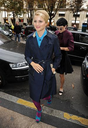 Dianna Agron  Arriving at Plaza Hotel in Paris - October 3, 2012