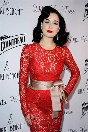Dita Von Teese Cointreau & Nikki Beach Present Dita Von Teese - 66th Annual Cannes Film Festival (May 20, 2013)