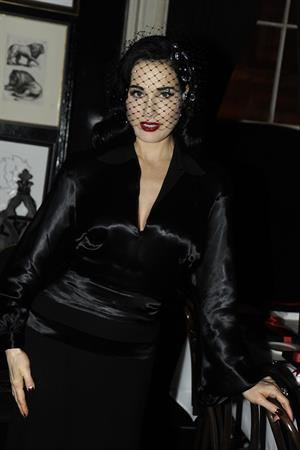 Dita Von Teese at Intimate Dinner Party March 12, 2013