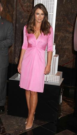 Elizabeth Hurley Lights up Empire State Building event in New York - October 1, 2012