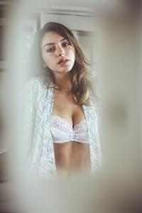 Celine Farach in lingerie