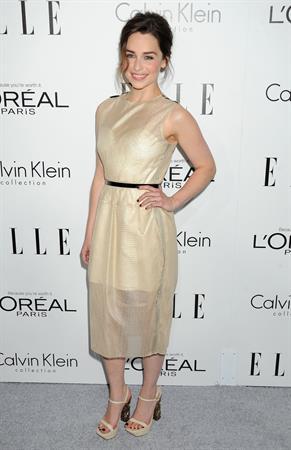 Emilia Clarke ELLE's 20th Annual Women In Hollywood Celebration - Los Angeles - October 21, 2013