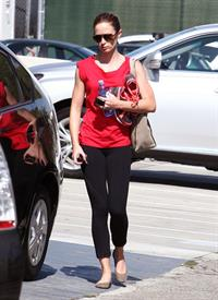 Emily Blunt - Leaving a gym in Los Angeles - August 10, 2012