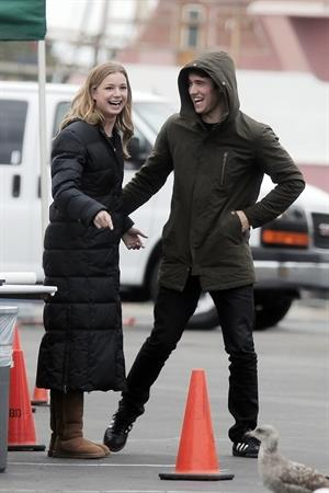Emily VanCamp - On the Set of Revenge in Los Angeles (07.02.2013)