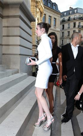 Emma Roberts - Versace Fashion Show, Paris 6/30/13