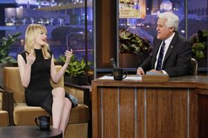 Emma Stone at The Tonight Show with Jay Leno in Burbank 1/8/13