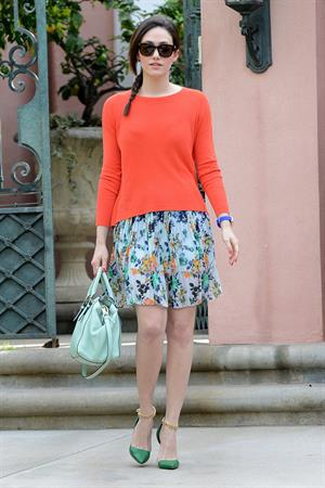 Emmy Rossum running errands in Beverly Hills 1/29/13