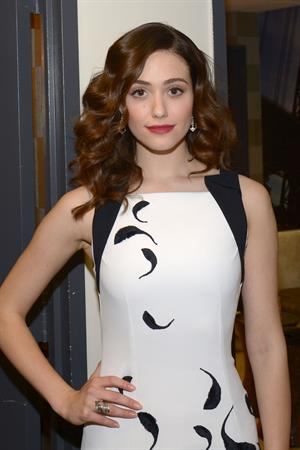 Emmy Rossum – backstage at The View, NYC 1/15/13