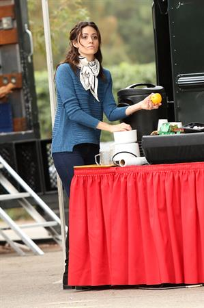 Emmy Rossum on the set of 'You're Not You' in Los Angeles 11/16/12