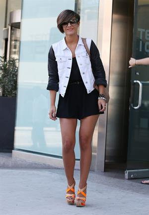 Frankie Sandford leaving her hotel in LA October 2, 2012