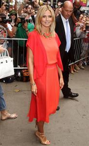 Heidi Klum - Interview for 'Good Morning America' Times Square New York on September 4, 2012