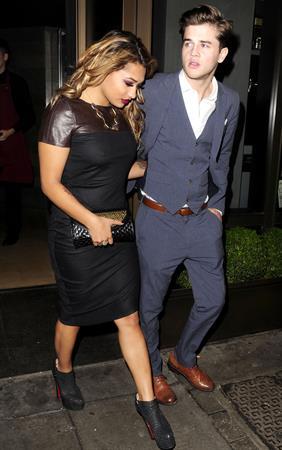 Vanessa White Leaving Novikov Restaurant in London - November 14, 2012