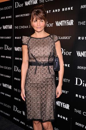 Helena Christensen The Cinema Society with Dior & Vanity Fair Screening of 'Rust and Bone' in New York - Nov 8, 2012