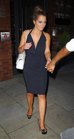 Helen Flanagan - Leaves her Manchester hotel - July 21, 2012