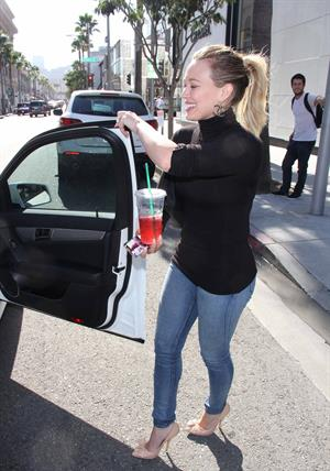 Hilary Duff in Beverly Hills 10/11/13