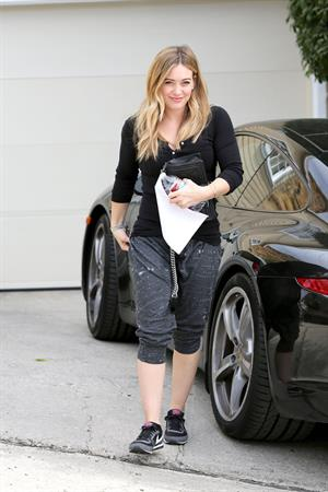 Hilary Duff - visits a friend in West Hollywood 11/7/13