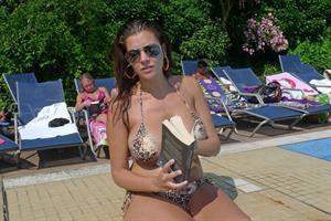 Imogen Thomas - Bikini-Swimming Pool in London on July 26, 2012