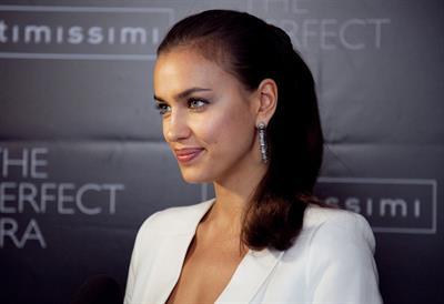 Irina Shayk promotes the perfect bra catalogue in Moscow on April 23, 2012