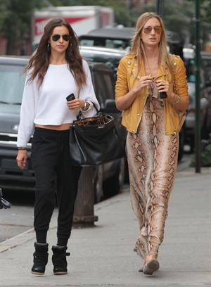 Irina Shayk out and about in NYC October 6, 2012