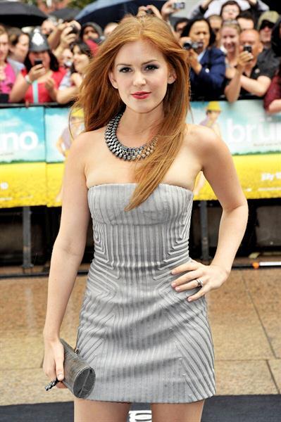 Isla Fisher Bruno UK premiere in London
