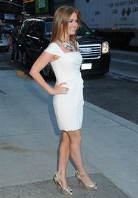 Isla Fisher Late Show with David Letterman in New York City
