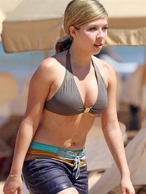 Jennette McCurdy in a Bikini Top in Maui 8-30-2012
