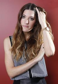 Jennifer Carpenter posing for Carlo Allegri portraits in New York City - October 26, 2012