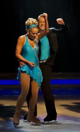 Jennifer Ellison Dancing on Ice Promos on January 15, 2012