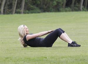 Jennifer Ellison working out in Liverpool April 14, 2011