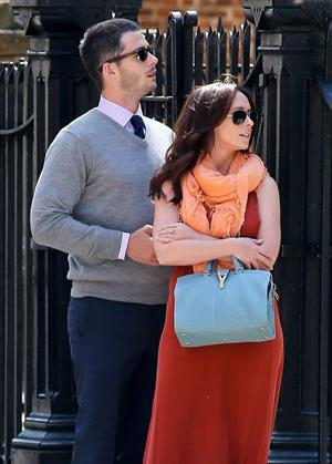 Jennifer Love Hewitt and Brian Hallisy attended a wedding together for one of Jen's friends April 27, 2013