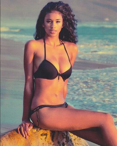 Lisa-Marie Jaftha in a bikini