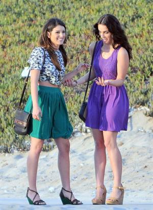 Jessica Lowndes - On the set of 90210 in Manhattan Beach - August 24 2012