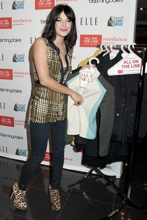 Jessica Szohr New York Cares Coat Drive at Bloomingdales in New York City On November 30, 2011