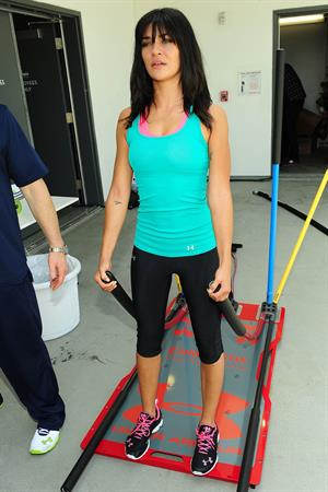 Jessica Szohr Armour Womens Training event in Hollywood on June 23, 2011